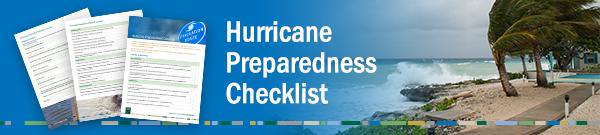 Hurricane Preparedness Checklist Graphic