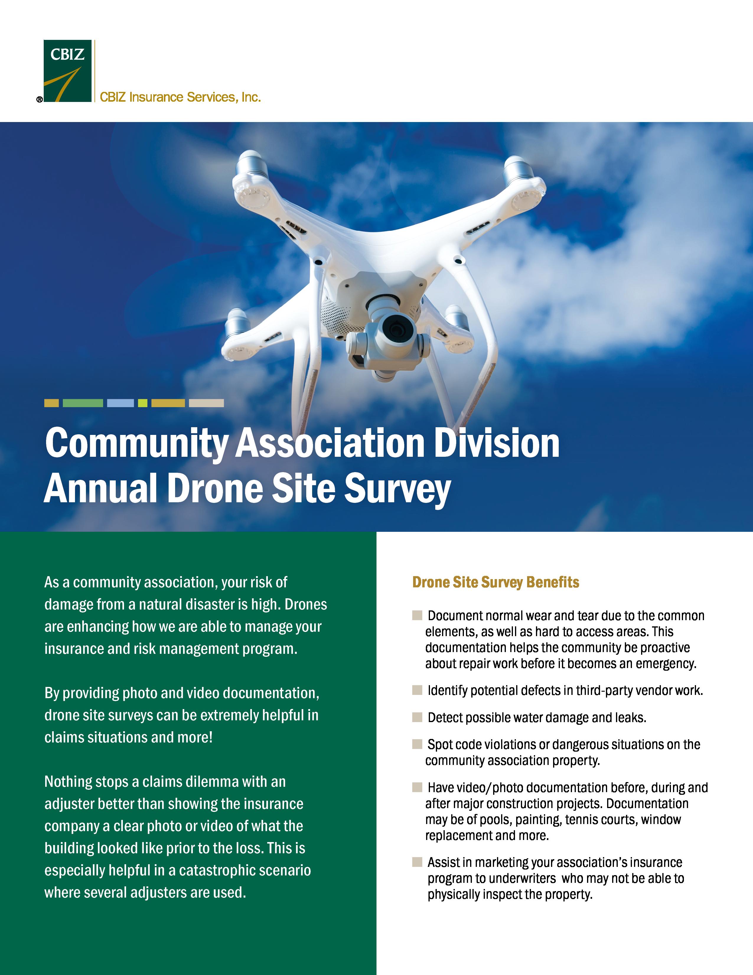 CBIZ P&C Drone Site Survey Services for Community Associations Flyer Image