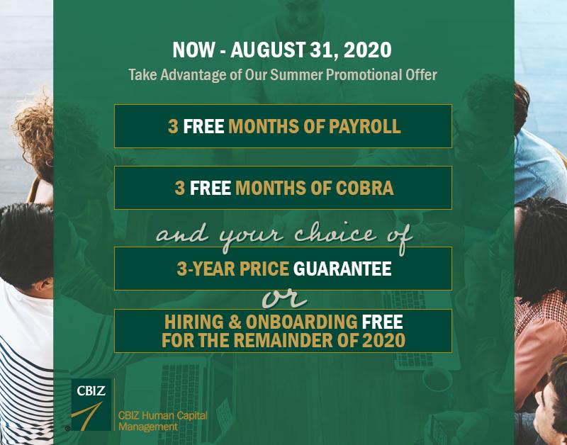 CBIZ HCM Summer 2020 Promo