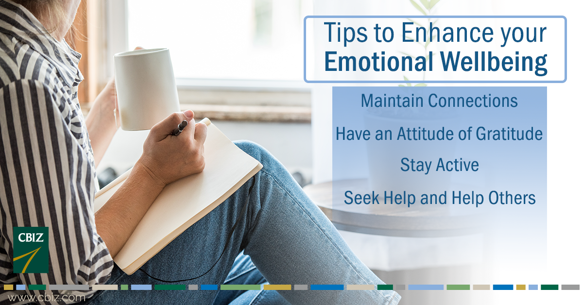 Tips to enhance emotional wellbeing.