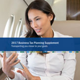 2017 Business Tax Planning Supplement