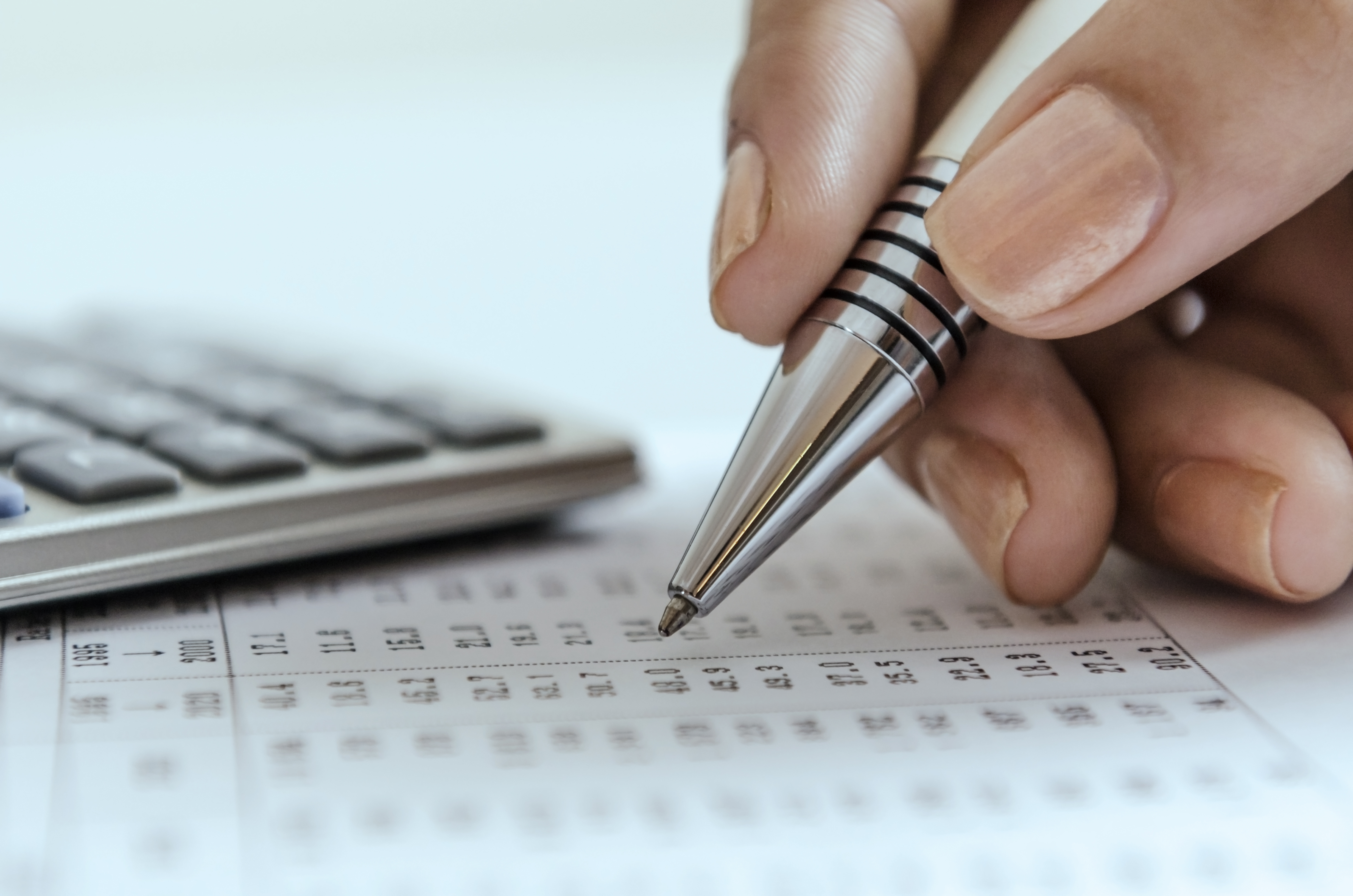 Financial Management: Filling out a form.