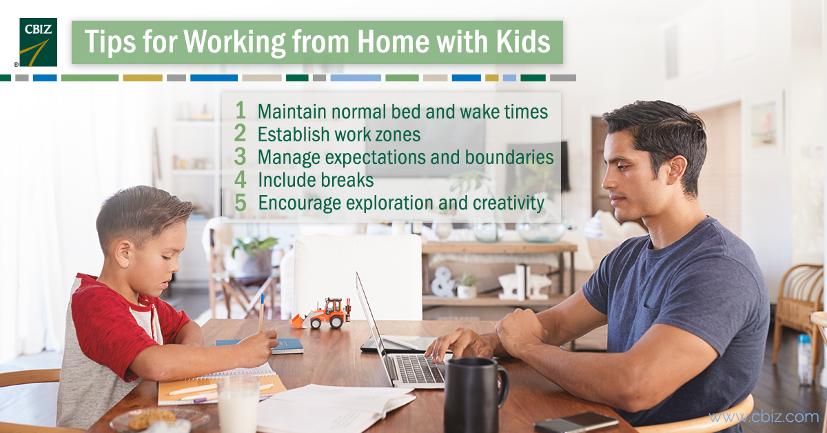 Work from home with kids tips.