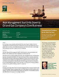 An ERM system brought benefits to an oil and gas company.