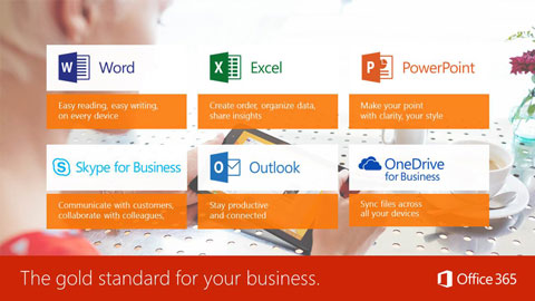 Descriptions of six Microsoft Office 365 applications.