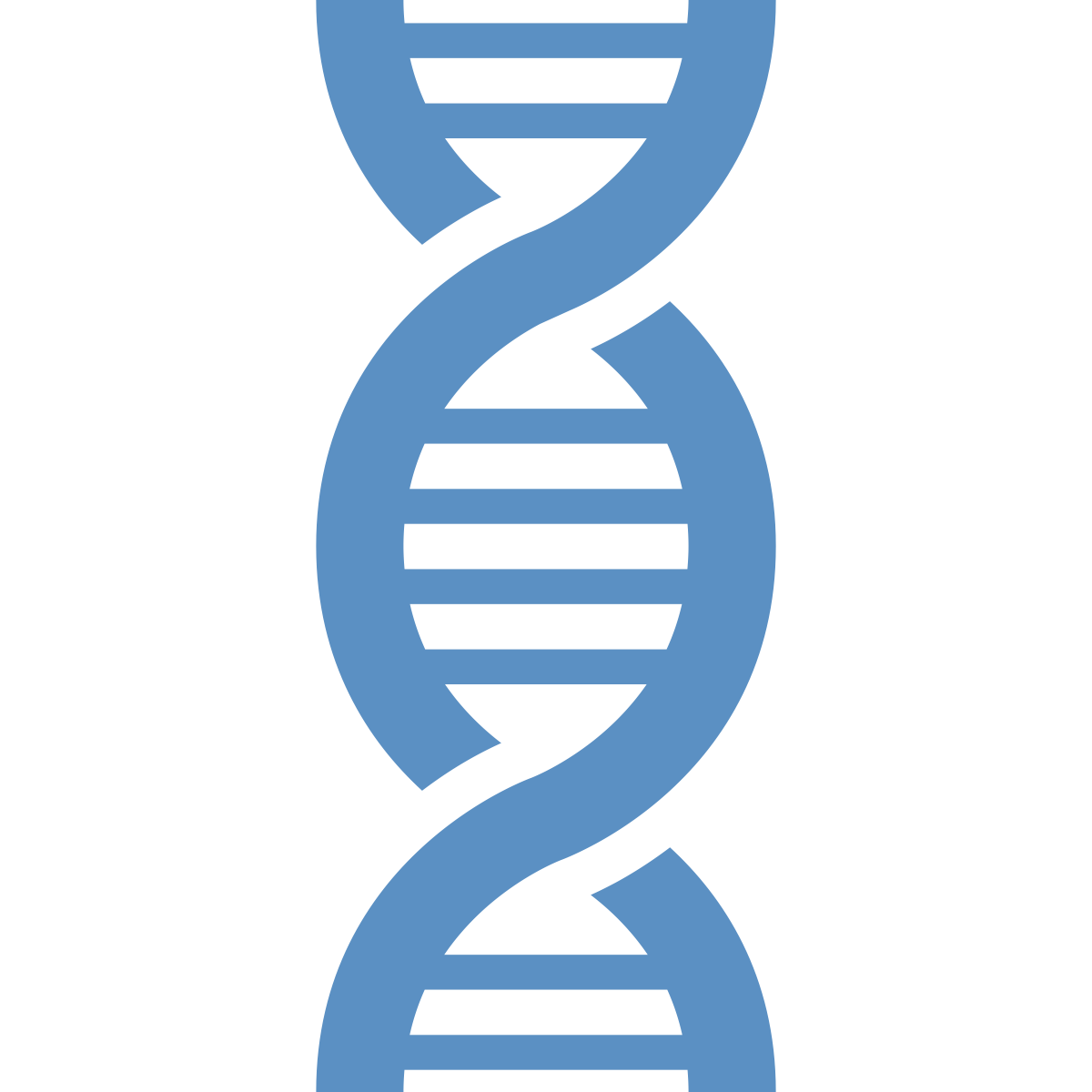 Icon: DNA sequence representing life sciences industry.